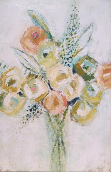 Floral bouquet painting by Holly Irwin