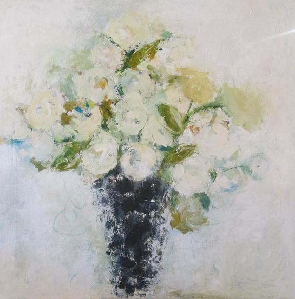 Painting of roses in vase by Holly Irwin
