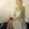 "The Linen Dress 24x20"" Oil on canvas"