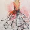 "The Dress 24x18"" Oil & ink on paper"